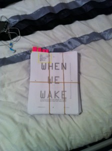 When We Wake first pass pages