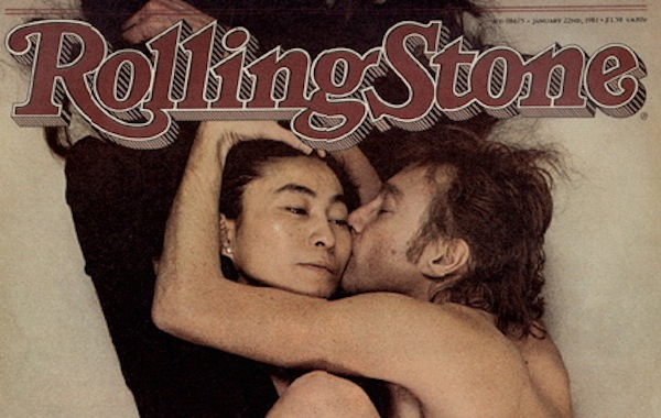 ono and lennon on the cover of Rolling Stone