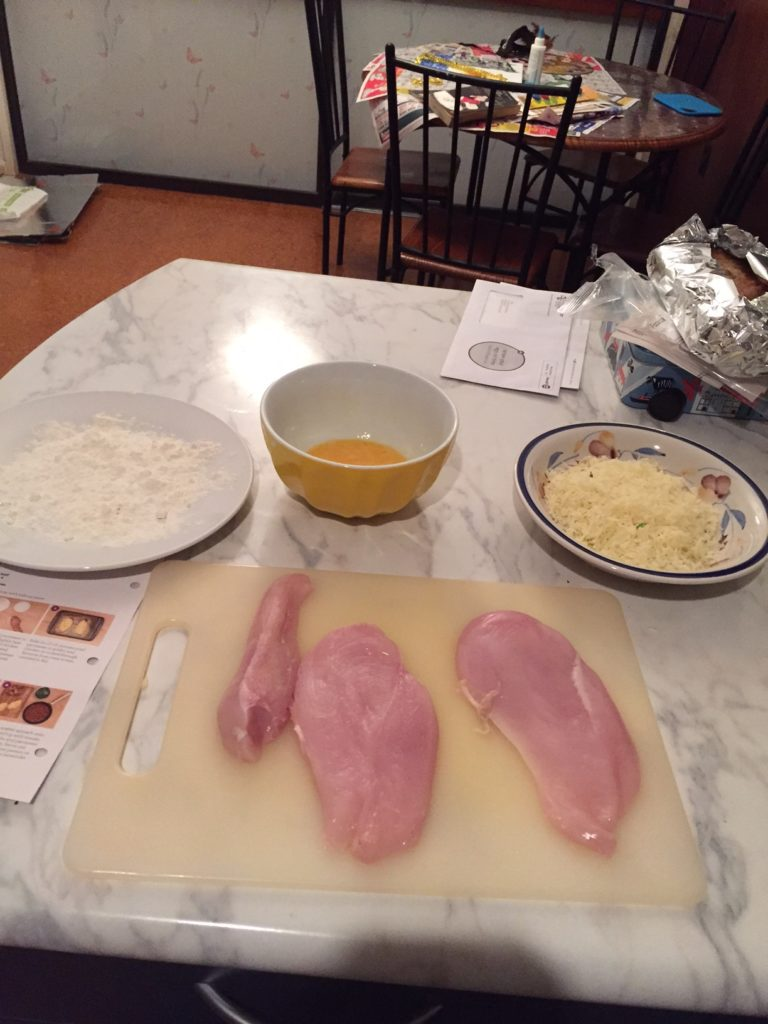 1 chicken mise en place