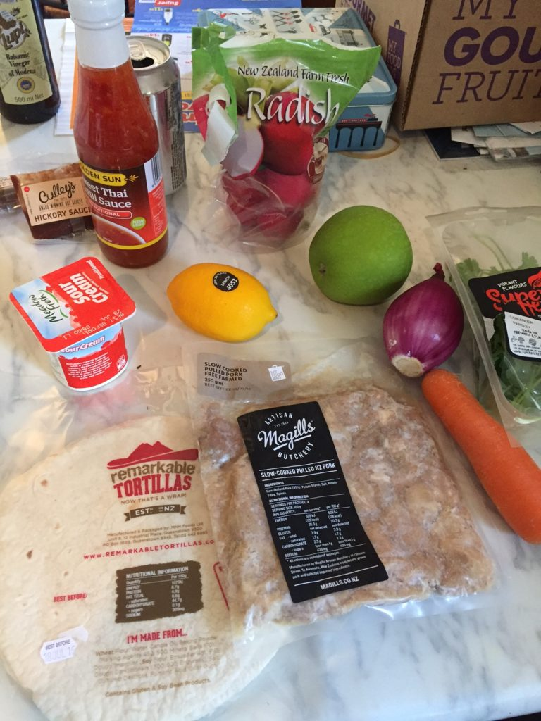 pulled pork taco ingredients