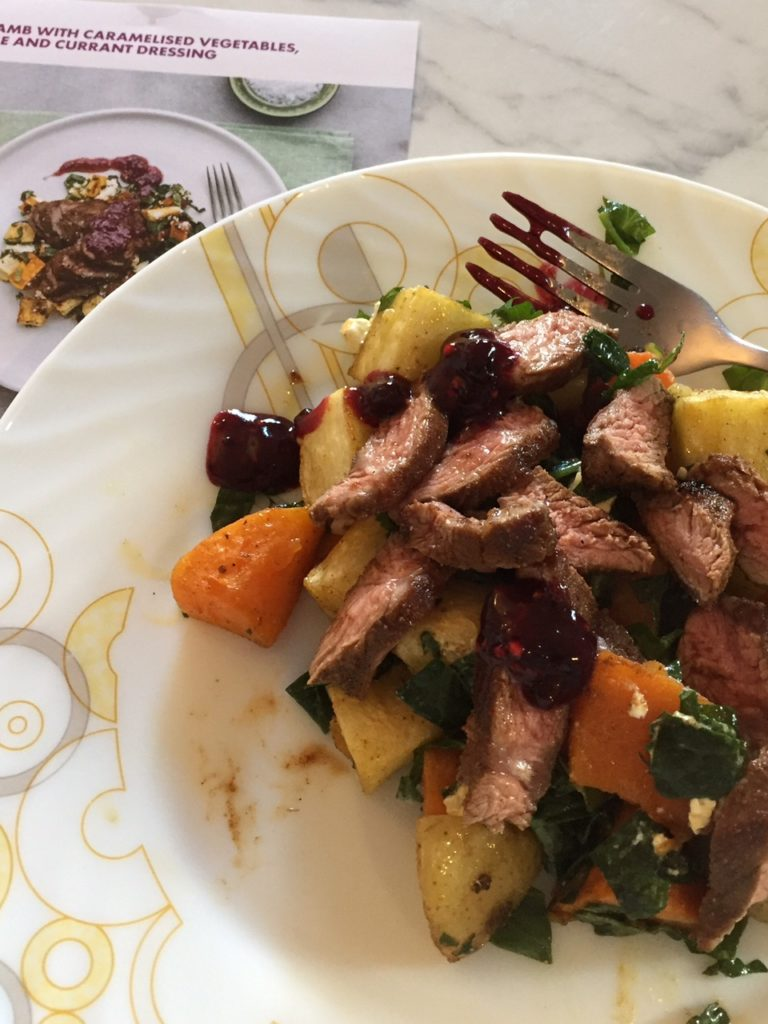 1 lamb and roast vege salad
